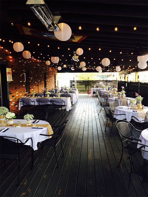 Banquet event on the deck at Brickside Bar & Grille