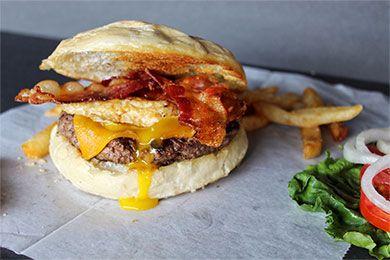 The Barnyard Burger at Brickside Bar & Grille